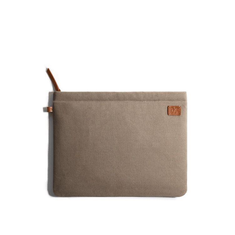 Amazing Beige Khakhi Canvas sleeves for your laptop, iPads, MacBooks, Tablets | Buy Online |KlippiK Kuwait UAE Saudi