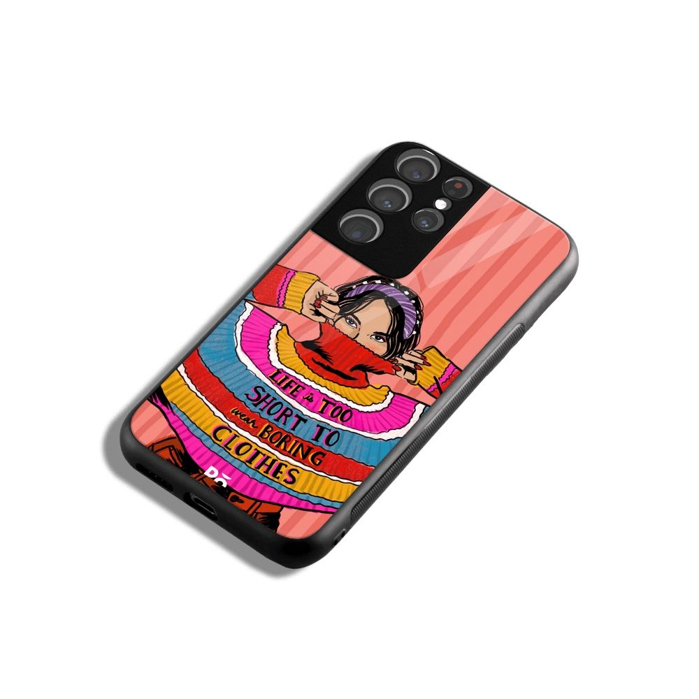 Colorblock Jumper case cover for Samsung Galaxy S21 Ultra. Best cases at KlippiK Online Shopping Kuwait UAE Saudi