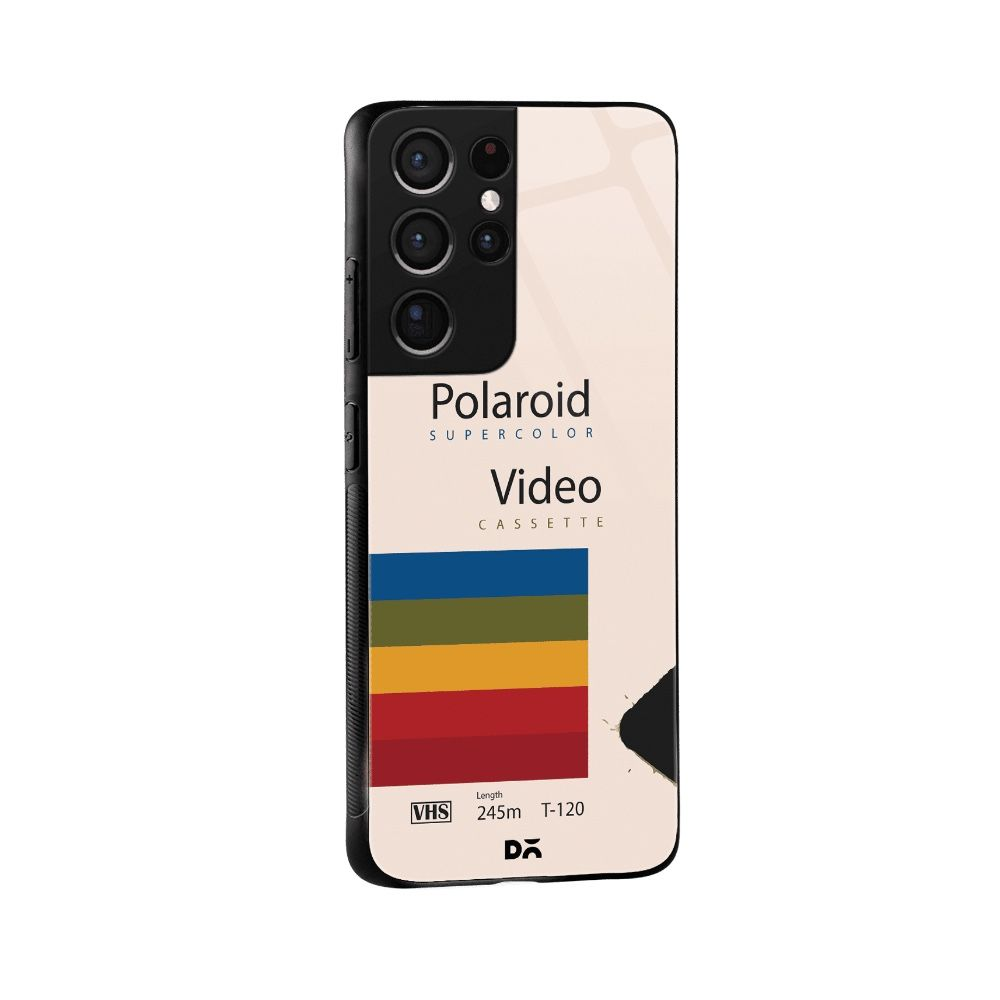 Polaroid VHS case cover for Samsung Galaxy S21 Ultra . Best cases at KlippiK Online Shopping Kuwait UAE Saudi