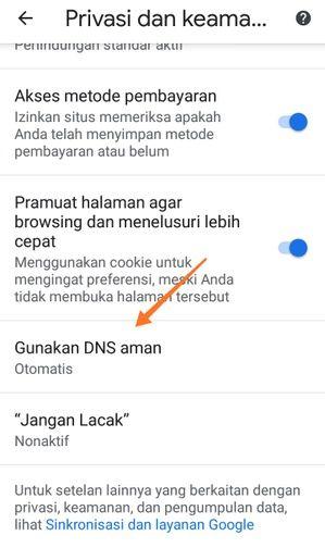 Gunakan DNS Aman