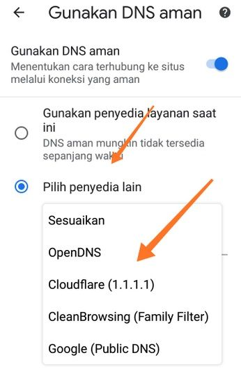 DNS CloudFlare (1.1.1.1)