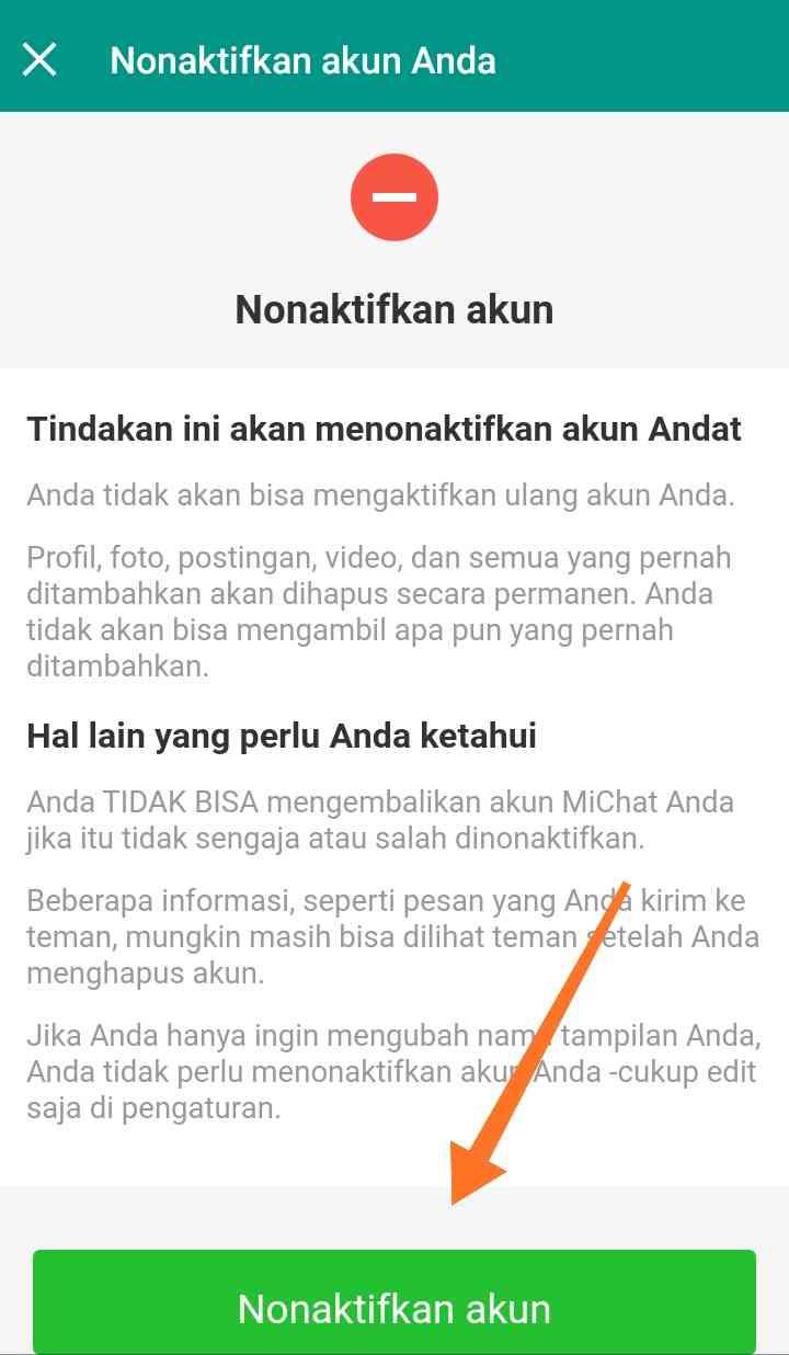 Nonaktifkan Akun – Kompirasi.com