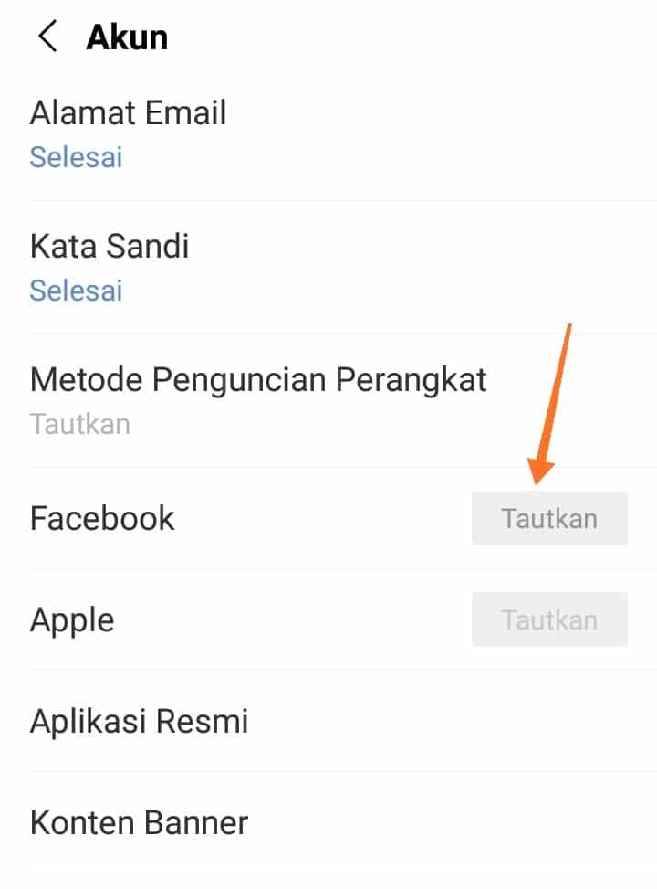 Tautkan Akun Facebook Ke Line