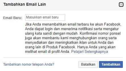 Tambahkan Email Lain