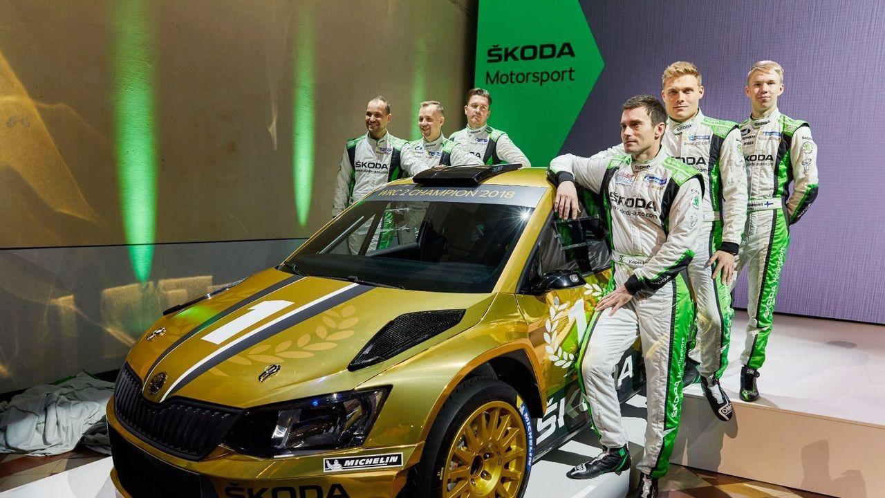 ŠKODA znovu obhájila titul ve WRC 2
