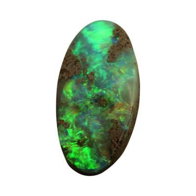billede af Turmalin og opal sten