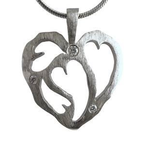 Hvidguld hjerte