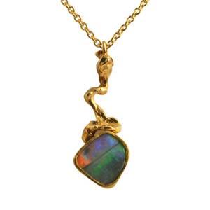 Rustikt guld med opal