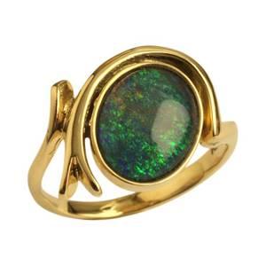 guldring med opal