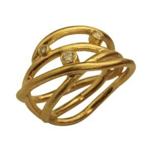 Kraftige guldtråde