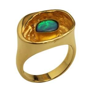 grøn & blå opal
