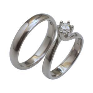 Solitaire og glat ring