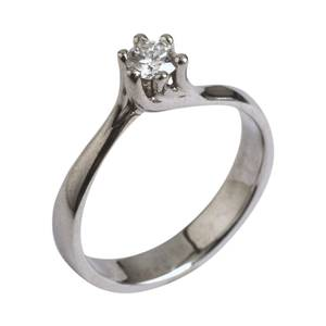 solitaire ring med 0,25 ct