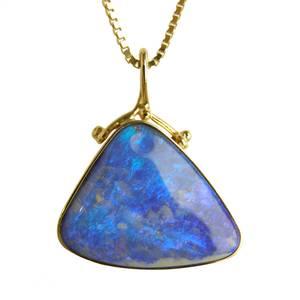 Blå opal boulder