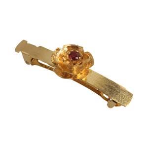 Hårspænde i 14 kt guld med rubin