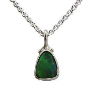 Opal i sølv vedhæng