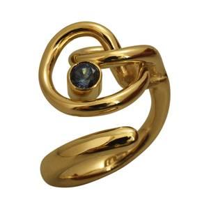 Masiv ring af guldtråd