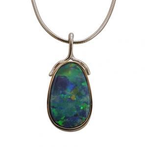 hvidguld med opal