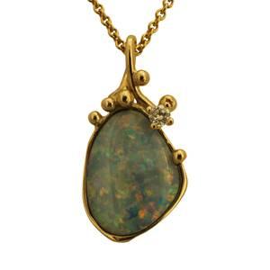 unikt opal vedhæng