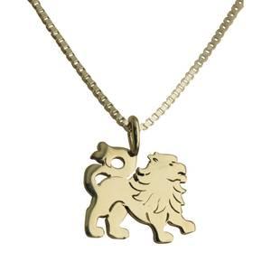 Løve vedhæng sølv lille