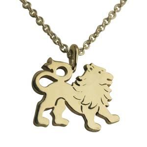 Løve vedhæng sølv stor