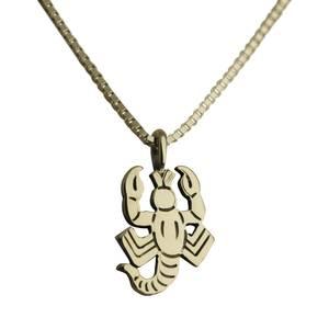 Skorpion vedhæng sølv lille