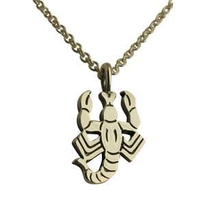 Skorpion vedhæng sølv stor