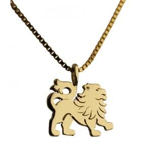 Løve vedhæng guld lille