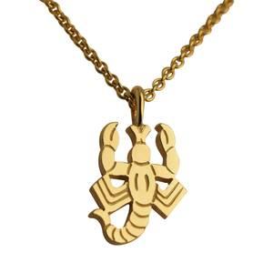 Skorpion vedhæng guld stor