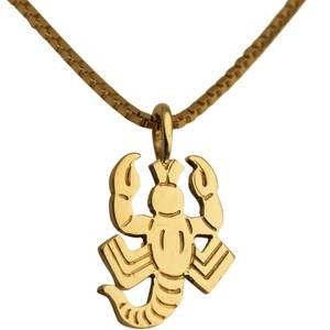 Skorpion vedhæng guld lille