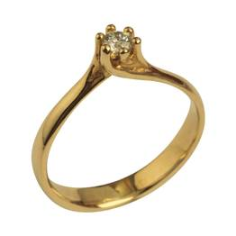 Organisk solitaire ring