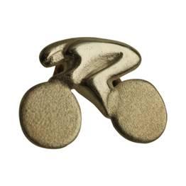 sølv cykelrytter som reversnål
