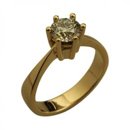 Solitaire ring med 1,10 ct brillant