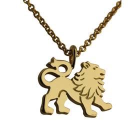 Løve vedhæng guld stor
