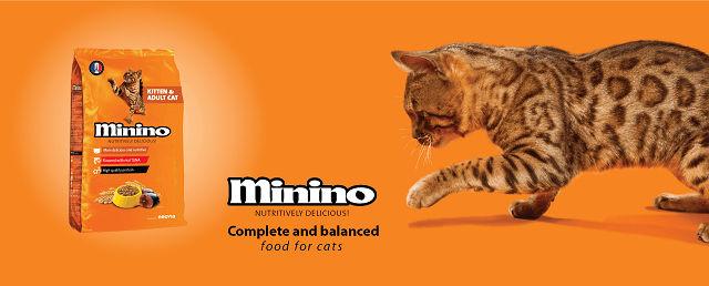 Makanan kucing Minino