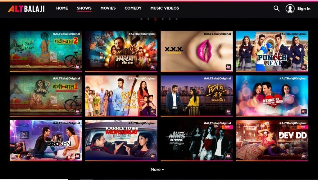 Alt Balaji -one of the early movers in original Indian streaming content
