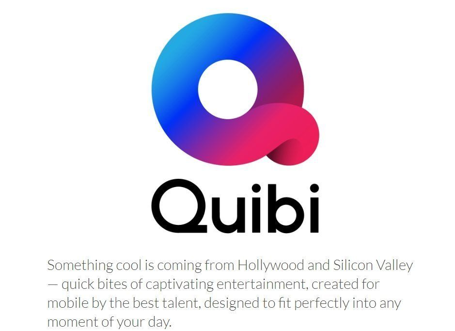 Logo of Quibi, a new start-up in Hollywood focusing on video programming for mobile phones