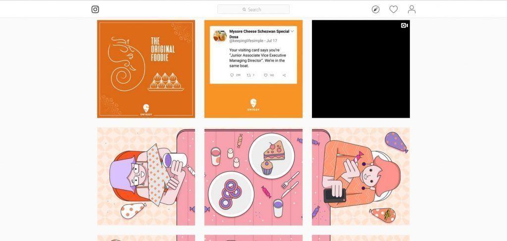 Swiggy's Instagram page