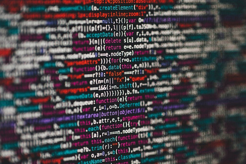 Lines of computer code on a screen