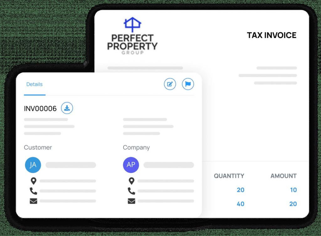 Personalised tax invoice