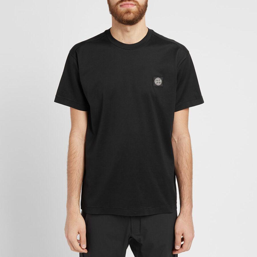 Stone Island Patch Logo T-Shirt in Black