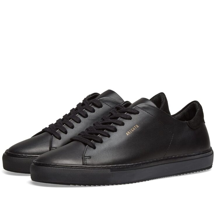 Axel Arigato Clean 90 Sneakers in Monochrome Black Leather