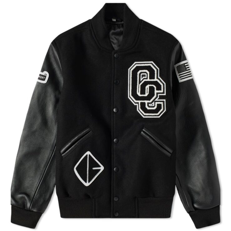 Opening Ceremony OC Varsity Jacket in Black