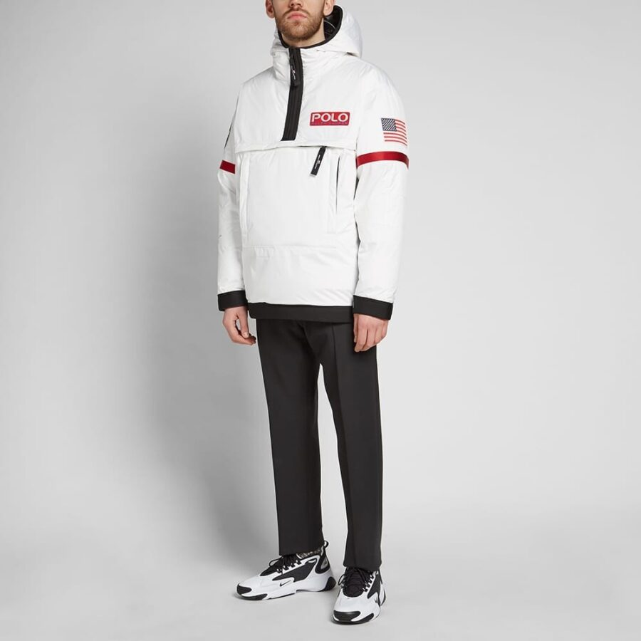 Polo Nasa Heated Pullover Astronaut Jacket 'White'