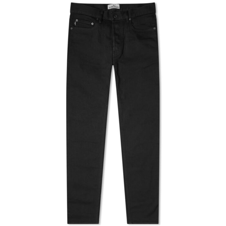 Stone Island Stretch Slim-Fit Jeans in Black