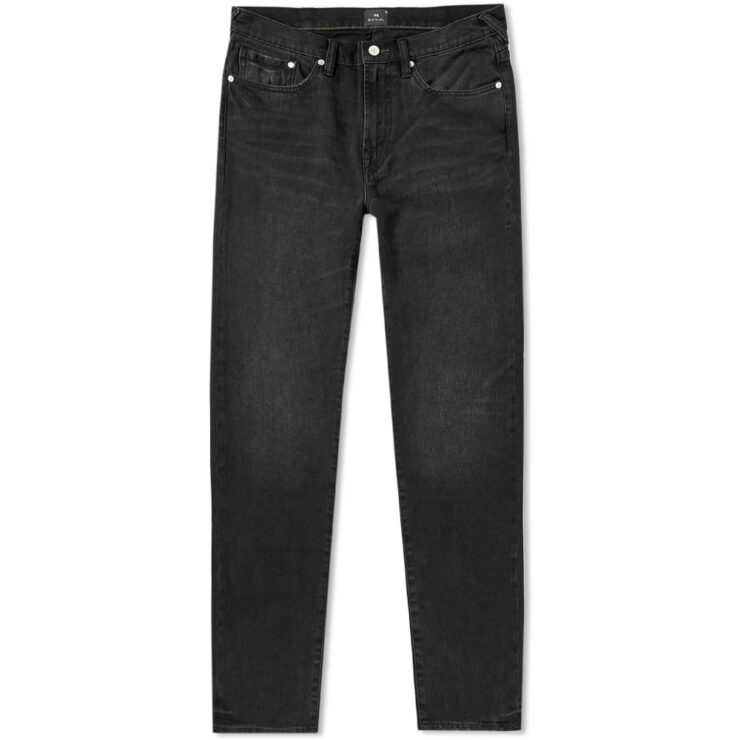 Paul Smith Tapered Fit Stretch Jeans in Black