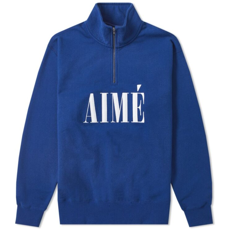 Aime Leon Dore Quarter Zip Sweater in Blue