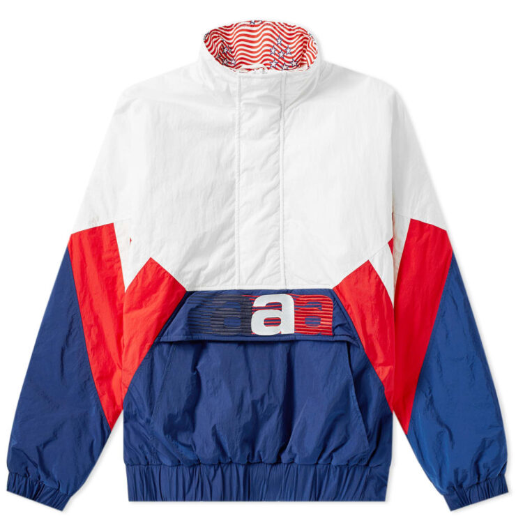 Alexander Wang Nylon Jacket in White, Blue and Red