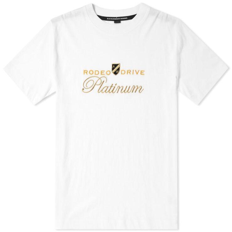 Alexander Wang Men's Platinum Multi Media T-Shirt - Soft White