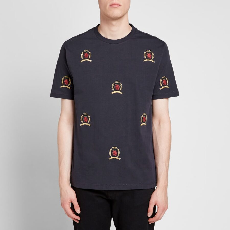 Hilfiger Collection All Over Crest T-Shirt 'Navy'